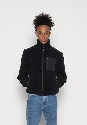 ZIP THROUGH JACKET - Fleece jacket - black