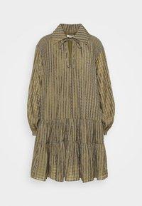 Glamorous - SMOCK DRESS WITH LONG SLEEVES - Robe d'été - olive/metallic gingham - 0