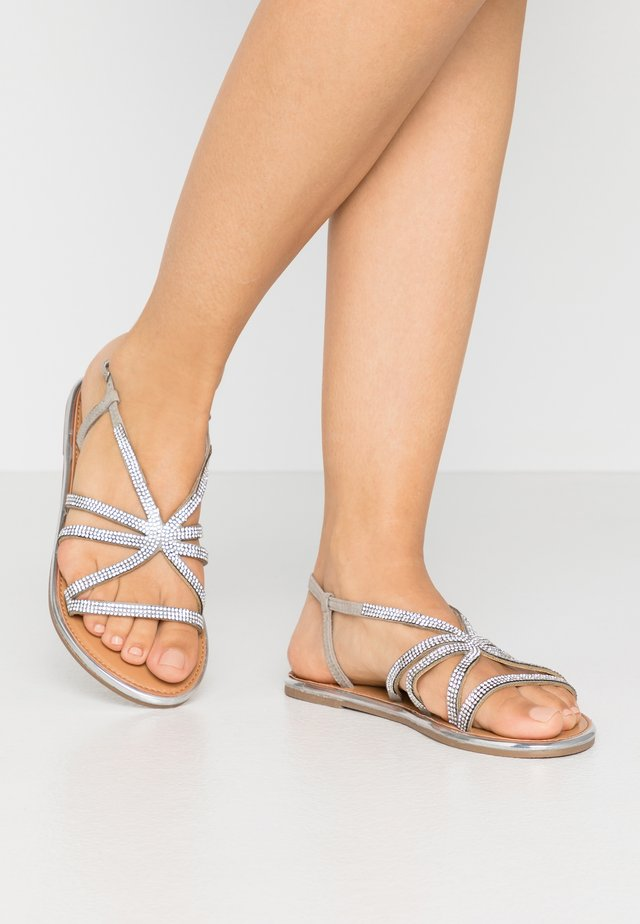 FIGARO EMBELLISHED - Sandals - silver