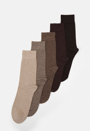 5 PACK - Socks - brown