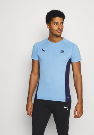 MANCHESTER CITY EVOSTRIPE TEE - Funktionströja - team light blue/peacoat
