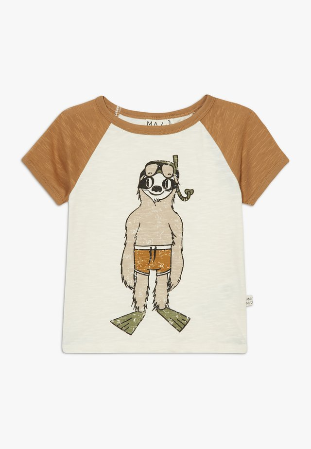 T-shirt med print - bone brown