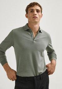 Massimo Dutti - Polo shirt - evergreen - 5