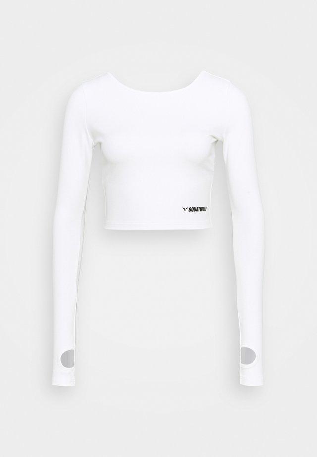 WARRIOR CROP TEE - Longsleeve - white