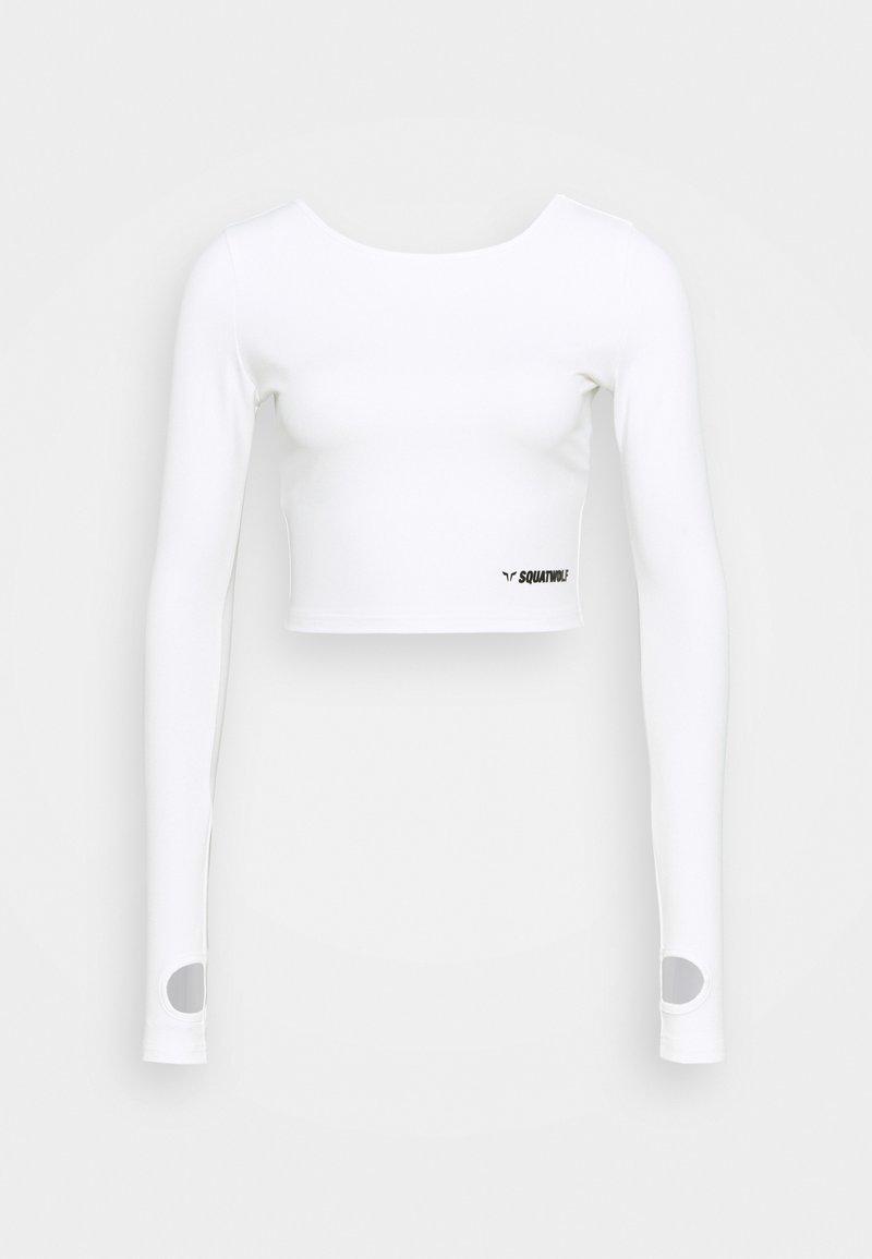 SQUATWOLF - WARRIOR CROP TEE - Long sleeved top - white