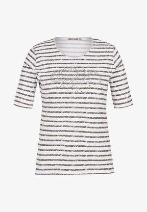 MIT STRASS-STEINEN UND STREIFEN - T-Shirt print - oliv