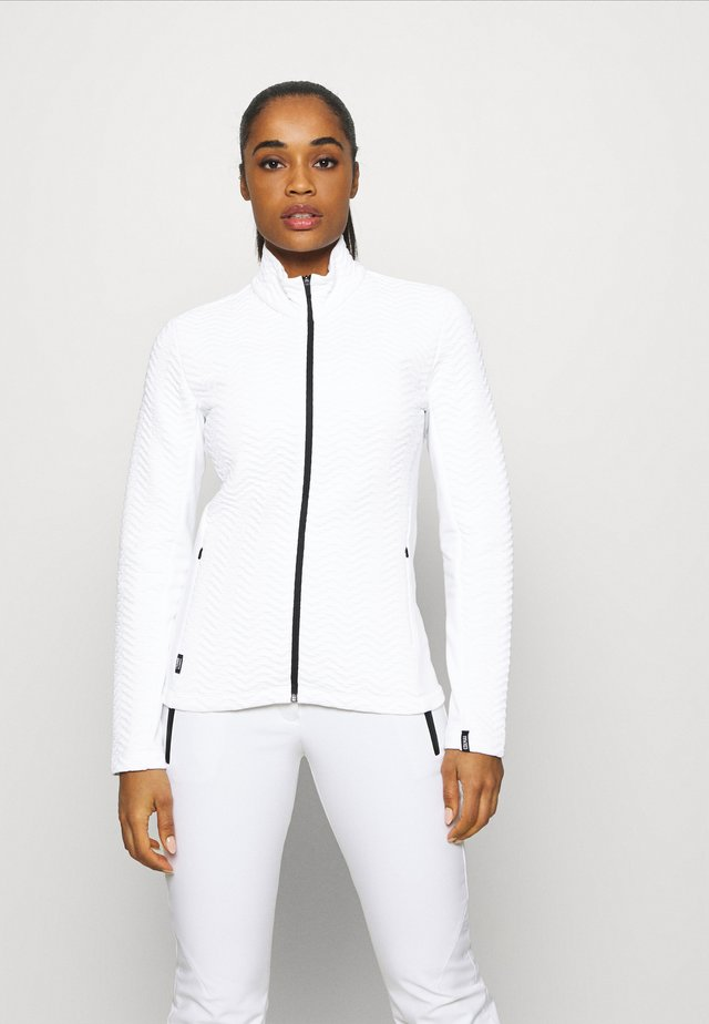 LADIES - Mikina na zip - white