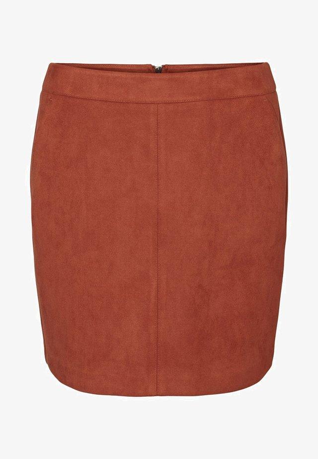 VMDONNA DINA - Pencil skirt - auburn