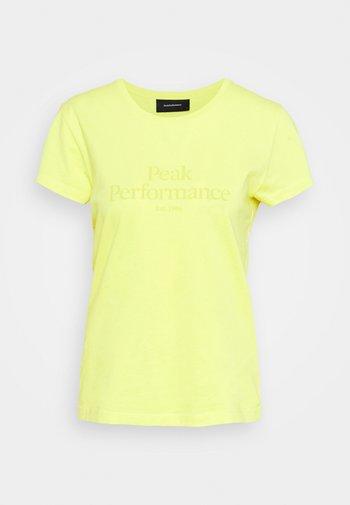 ORIGINAL TEE - Camiseta estampada - citrine