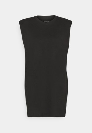 ALVINA SHOULDER DRESS - Basic T-shirt - black