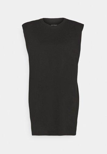 ALVINA SHOULDER DRESS - Basic T-shirt - black