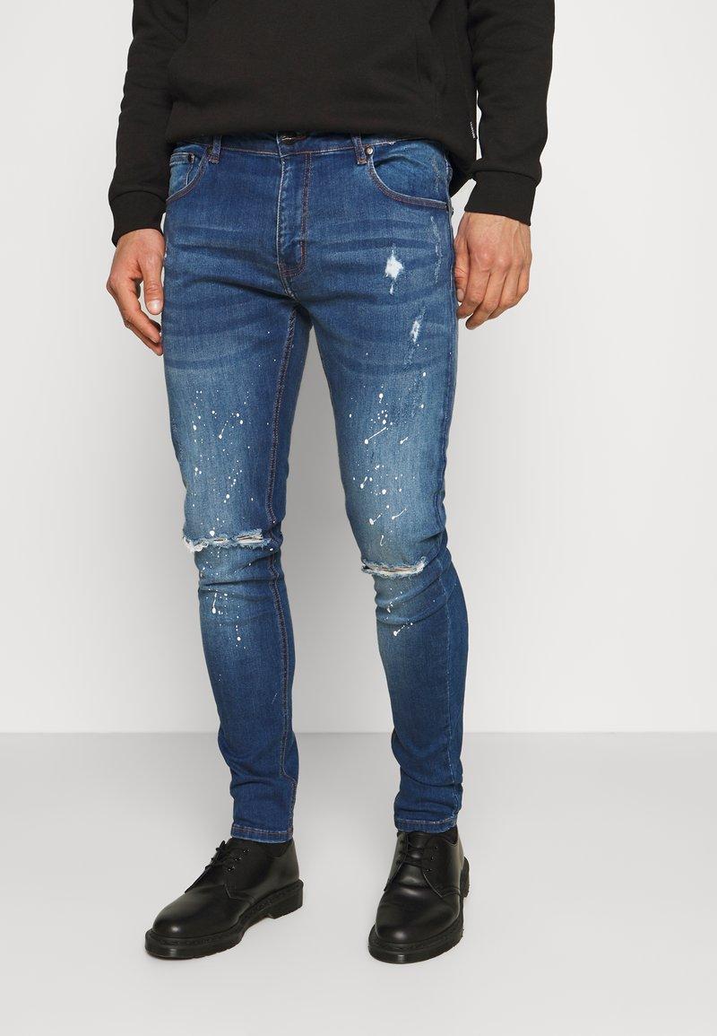 CLOSURE London - SPLATTER - Jeans Skinny Fit - blue