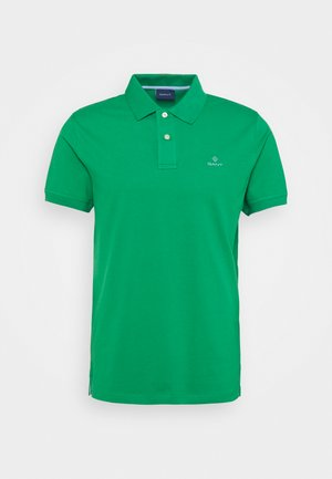 CONTRAST COLLAR RUGGER - Polo shirt - amazon green