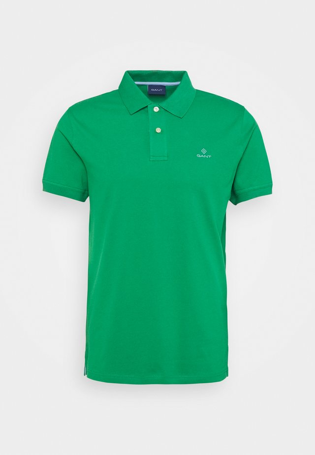 CONTRAST COLLAR RUGGER - Polo - amazon green