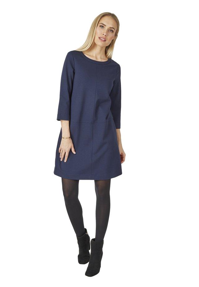 MIT VIELEN DETAILS - Jersey dress - dunkelblau