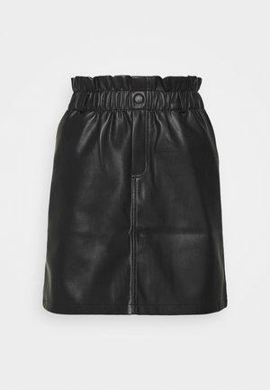 NMJUDO PENNY PAPERBACK SKIRT  - Mini skirt - black