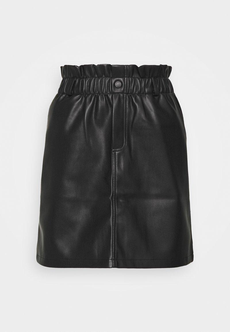 Noisy May - NMJUDO PENNY PAPERBACK SKIRT  - Mini skirt - black
