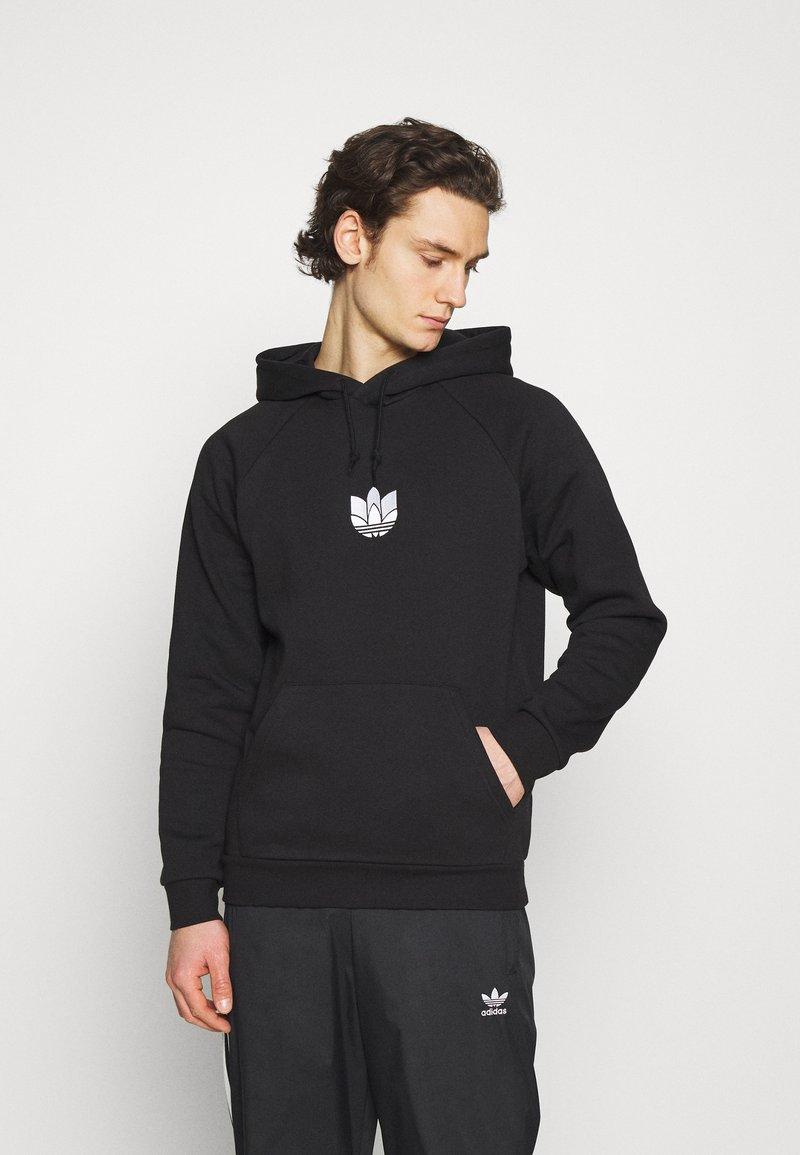 adidas Originals - TREFOIL HOOD UNISEX - Sweatshirt - black