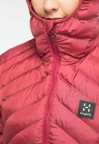 Haglöfs - SÄRNA MIMIC HOOD - Winter jacket - brick red - 4