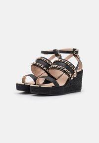 River Island - Platform sandals - black - 1