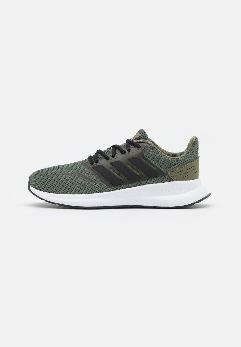 adidas Performance - RUNFALCON UNISEX - Neutral running shoes - raw khaki/core black/footwear white