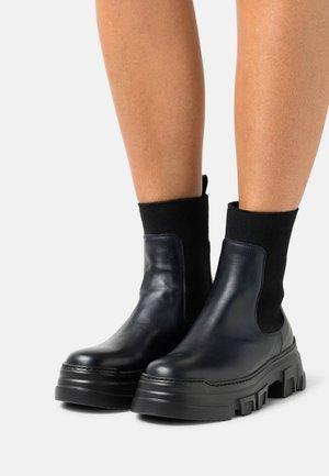 Platform ankle boots - dark navy
