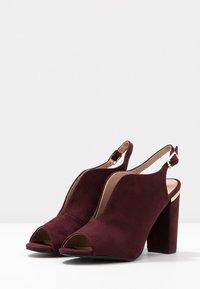 Dorothy Perkins - SKYLAR - High heeled sandals - burgundy - 4