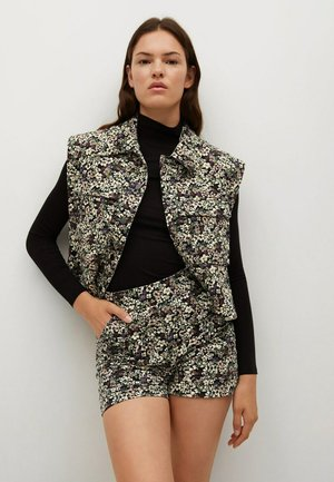 CROPPED VEST  - Waistcoat - svart