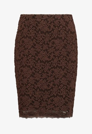 Pencil skirt - chestnut