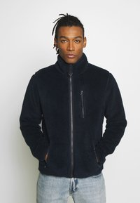 Knowledge Cotton Apparel - ELM ZIP TEDDY - Summer jacket - total eclipse - 0