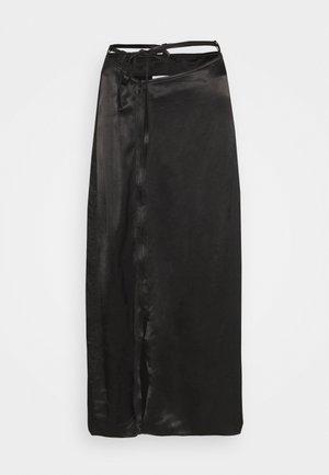 TYRA SKIRT - Áčková sukně - black