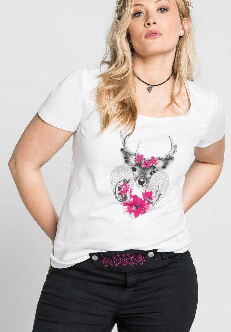 Sheego - Print T-shirt - weiß
