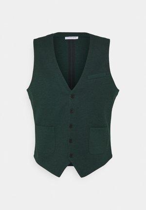 Waistcoat - bottle green mix