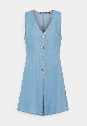 VMVIVIANA SHORT PLAYSUIT - Jumpsuit - light blue denim