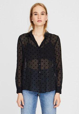 HALBTRANSPARENTES - Košile - black