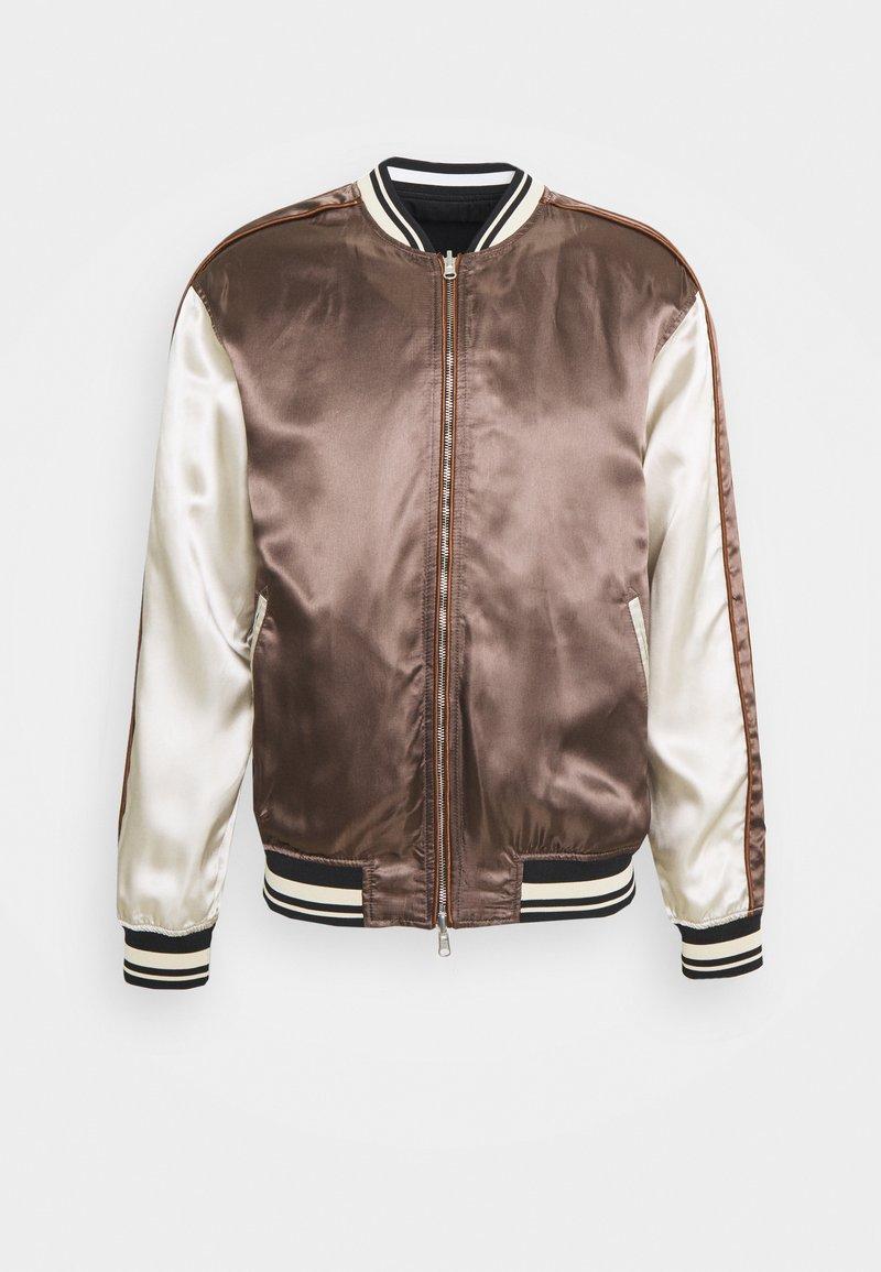 3.1 Phillip Lim - EXCLUSIVE REVERSIBLE SOUVENIR JACKET - Bomber Jacket - black/white/brown