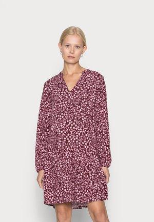MINI DRESS - Sukienka letnia - burgundy