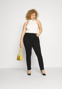 Anna Field - STRAIGHT LEG - Straight leg jeans - black denim - 1