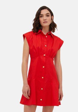 Vestido camisero - rosso