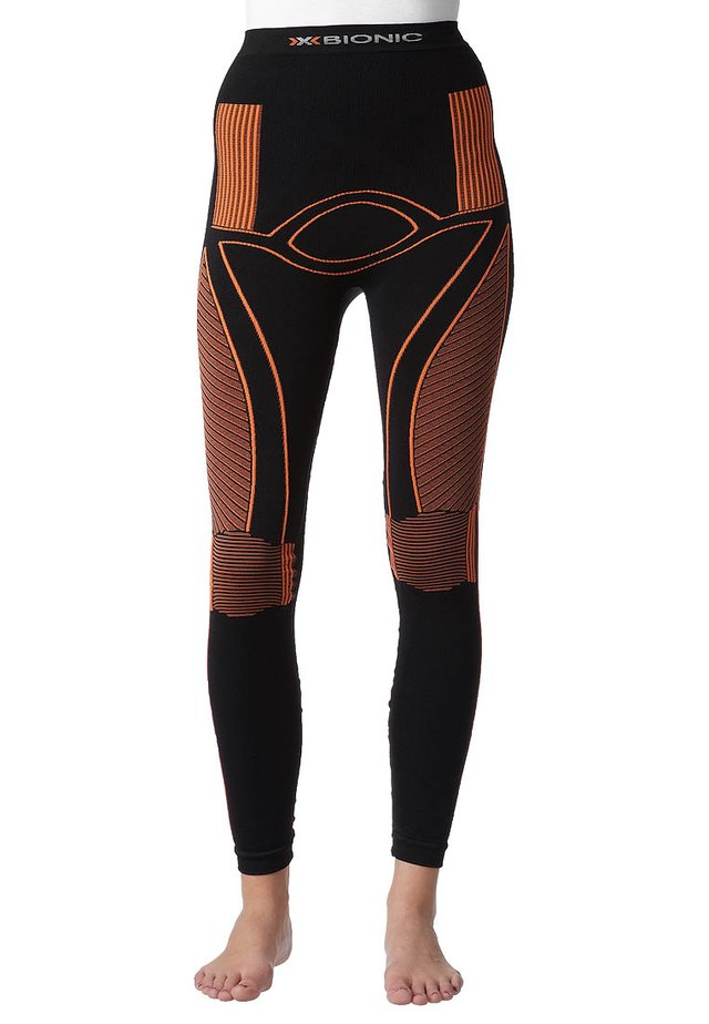 ENERGY ACCUMULATOR PANTS LONG - Base layer - black/orange