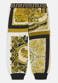 Versace - BAROQUE MOSAIC KIDS UNISEX - Trousers - white/gold