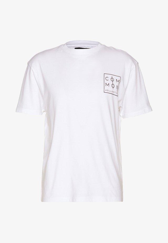 UNISEX ZONE  - T-shirt z nadrukiem - white