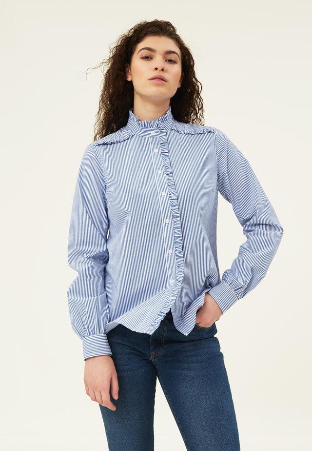 MARIANNE  - Button-down blouse - blue/white stripe