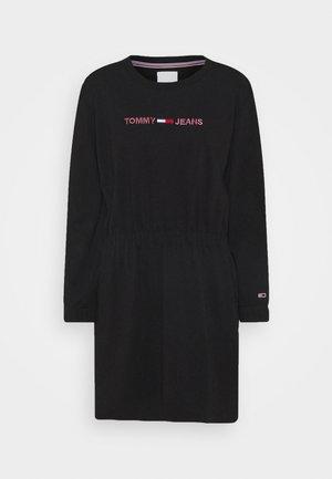 LINEAR DRESS - Kjole - black
