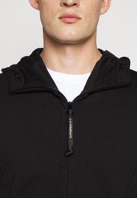 C.P. Company - HOODED OPEN DIAGONAL - veste en sweat zippée - black - 5