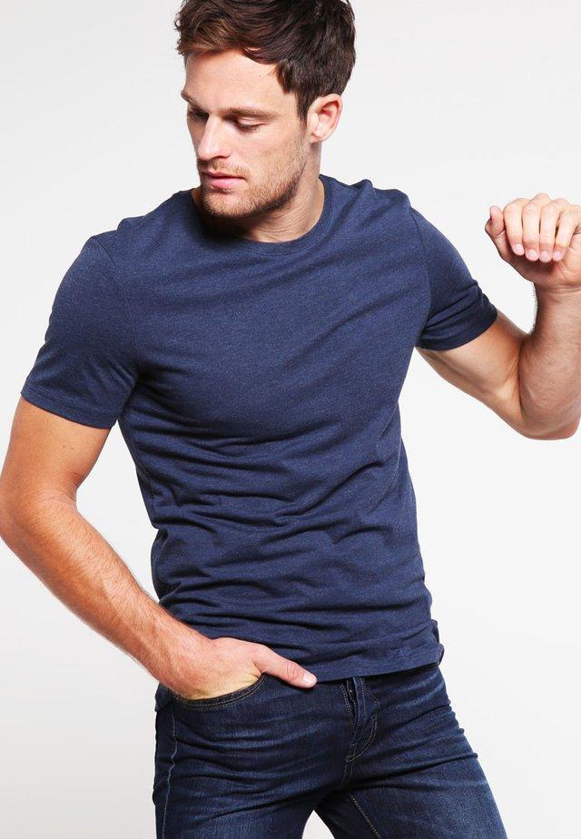 T-shirt basic - dark blue melange