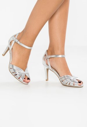 High heeled sandals - silver