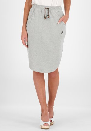 HOLLYAK  - A-line skirt - grey