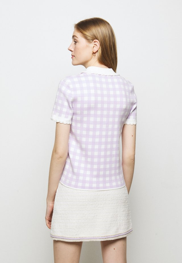MICRO - T-shirts med print - parme