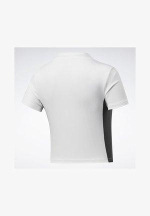 MYT ZIP CROP TOP - T-Shirt print - white
